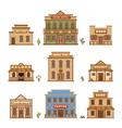 wild west buildings vector image