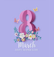 womens day 8 march vector image vector image
