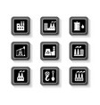 industrial buttons set vector image