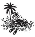 on theme of tourism with palm vector image
