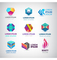 business icons set abstract logos company vector image