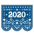 2020 papel picado design - mexican style vector image
