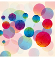 abstract design tech circles background vector image vector image