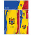abstract moldova flag background vector image vector image