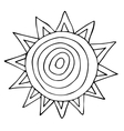 abstract sun sketchy hand drawn doodle black vector image