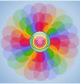 abstract transparent colorful flower vector image vector image
