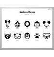 animal icons solid pack vector image