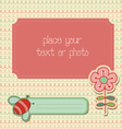 baby girl arrival card with photo frame in vector image vector image