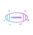 ball american icon design vector image vector image
