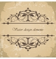 Beautiful vintage frame border vector image vector image