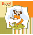 best cook certificate with funny cook who runs a vector image vector image