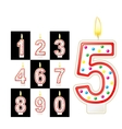 Birthday candles number Red vector image vector image
