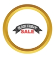 Black friday ribbon icon vector image vector image