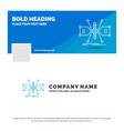Blue business logo template for architect