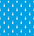 bottle with bung pattern seamless blue vector image vector image