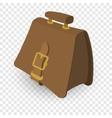 Briefcase brown cartoon vector image vector image