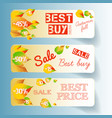 business autumn floral horizontal banners vector image vector image