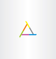 business company triangle abstract logo vector image