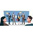 business negotiations concept vector image