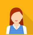 character woman icon flat style vector image vector image