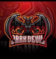 dark devil esport mascot logo design vector image vector image