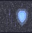digital lock guard sign binary code vector image vector image