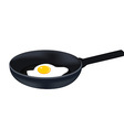 Egg on pan vector image vector image