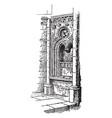 fenestella in the church of norrey vintage