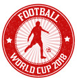 football world cup grunge rubber stamp vector image