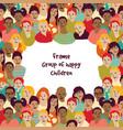 frame group happy children vector image vector image