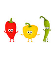 funny peppers friends vector image