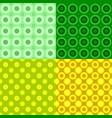 geometrical seamless pattern set - circle vector image vector image