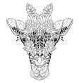 Giraffe head doodle on white background vector image vector image