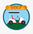 golf car field sport emblem vector image vector image