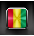 Guinea icon flag national travel icon country vector image vector image