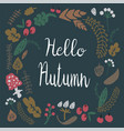 hello autumn frame vector image