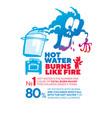hot water danger infographic poster vector image vector image
