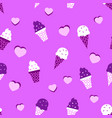 ice cream flat pattern vector image vector image