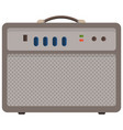 iron radio with colorful buttons device for vector image vector image