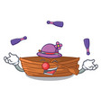 juggling wooden boat beside the macot beach vector image