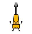kawaii screwdriver tool equipment repair support vector image vector image