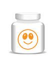medicine bottle with vitamins health concept vector image
