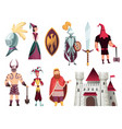 medieval tales characters flat set with archer vector image vector image