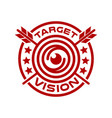 modern vision and logo target vector image vector image