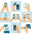 NFC Technology Flat Style Concept vector image vector image