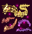 notes music neon melody colorfull musician vector image vector image