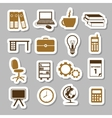 office stickers vector image vector image