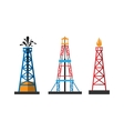 Oil extraction platform vector image