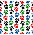 Paw seamless pattern vector image vector image
