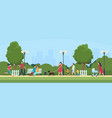 people in park persons leisure and sport vector image